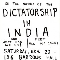 Discussion on the nature of the dictatorship in India