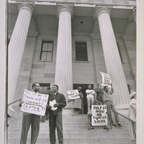 Central City Citizens' Committee demonstration to save the old Mint for use ...