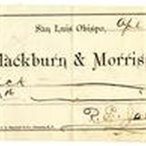 Blackburn & Morriss check