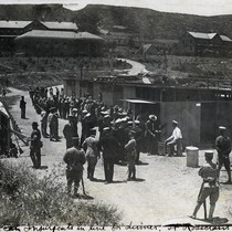 Mexican insurgents in line for dinner - Fort Rosecrans