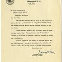 Correspondence from Francis Biddle to Frank Herron Smith May 8, 1945