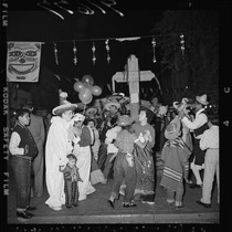 Mardi Gras festivities on Olvera Street, Los Angeles (Calif.)