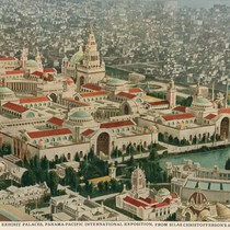 Aerial view of the 1915 Panama-Pacific International Exposition [photograph]