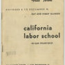 California Labor School 1945 fall term catalog