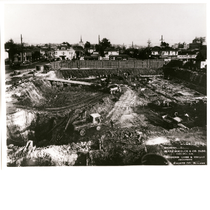 Below grade site excavation for the Sears, Roebuck and Co. building, Telegraph ...