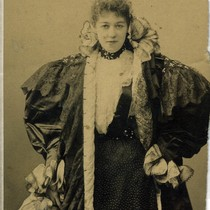 Cabinet card portrait of Emma Nevada