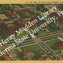 An Air View of Fresno State College, Fresno, California