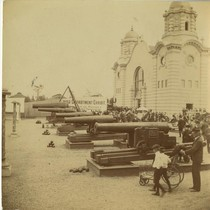 Cannons, War Department Exhibit, in front of Government Building