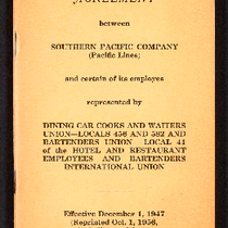Agreement between Southern Pacific Company (Pacific Lines) and certain of its employes ...