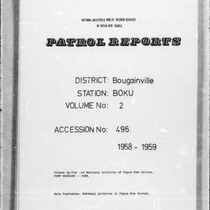 Patrol Reports. Bougainville District, Boku, 1958 - 1959
