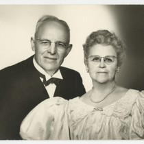 50th wedding anniversary portrait of Ed and Mary Fletcher
