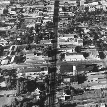 Aerial View, Looking North on South Los Angeles Street, Anaheim [graphic]
