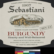 1967 Sebastiani North Coast counties Burgundy : bin 24 ; hearty and ...