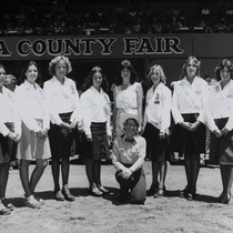 1978 FFA Sweethearts with Farm Queen at the Sonoma County Fair, Santa ...