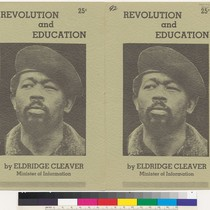 Revolution and Education, by Eldridge Cleaver, cover