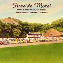 Fireside Motel, Mill Valley, California, circa 1946 [postcard]