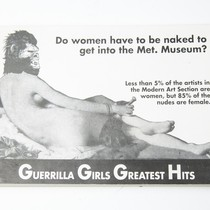 Guerrilla Girls greatest hits : do women have to be naked to ...