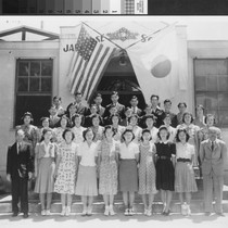 Group portrait of the Japanese High School in Marysville (Calif.) in 1939