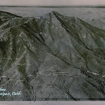 An aerial view of Mt. Tamalpais, circa 1920 [postcard negative]