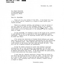 Ping: Correspondence: Letter from Judith Schmidt to Roger Reynolds