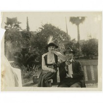 Director J. Gordon Edwards and a woman, circa 1919
