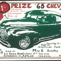 1st Prize '65 Chevy', Announcement Poster for