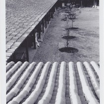 Agbayani Village - Courtyard construction (roof view)