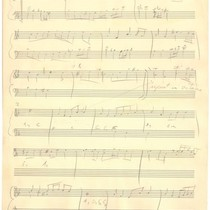 "1941: ""Lullaby"" manuscript sheet music"