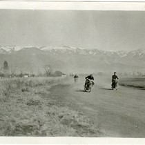 Bishop, California . Motorcyclists Racing