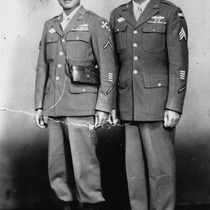Anacieto Soriano, Sr. and Friend, World War II [graphic]