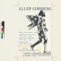 Mock-up of ad for books by Allen Ginsberg