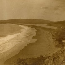 Beach at Willow Camp, today known as Stinson Beach, California, February 1913 ...