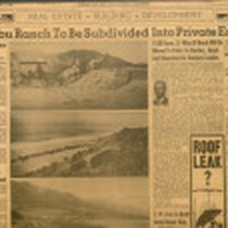 "Article titled ""Malibu Ranch to be Subdivided into Private Estates"""