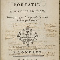 [Manuscript notes on Voltaire's Dictionnaire philosophique]