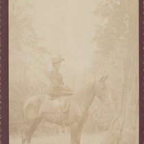 Photo of Alice Chase Dudley on a Horse