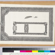 Album page with bank note vignettes with borders and $200