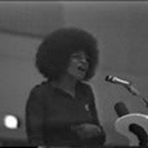 Angela Davis speaks on the topic of oppression and repression in the ...