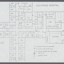 Floor Plan of Sac-Osage Hospital