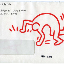 Keith Haring ACT UP direct mail letter to Donald P. Francis