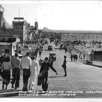 The Pier at Santa Monica, California Showing Yacht Harbor