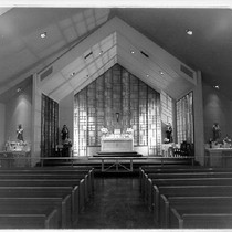Apse of St. Sebastian Church, Sebastopol, California, 1957