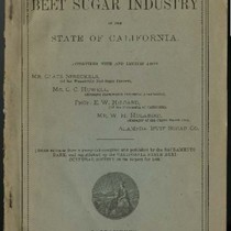 The beet sugar industry in the state of California