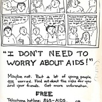 I Don't Need to Worry About AIDS draft flyer