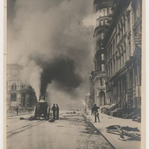 411 1/2 California St. Samuel Printing Co. [Sansome to Montgomery Sts. Fire ...