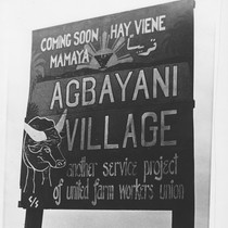 Agbayani Village Construction sign