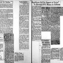 1934 Election Campaign - Newspaper clipings