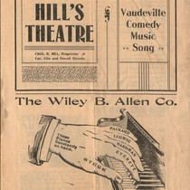 [Cover for Hill's Theatre program]