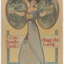"""I Can Handle Both, Says the Lady,"" illustration from the San Francisco ..."