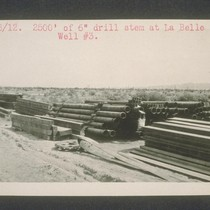 2,500 of six inch drill stem at La Belle well number three