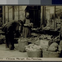 Chinese Market, San Francisco. J57. [Post card.]